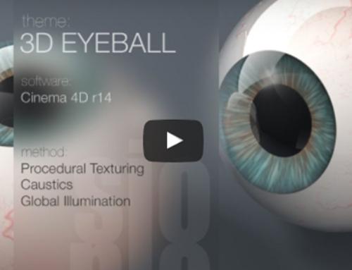Cinema 4D Tutorial-Model and Texture a 3D Eyeball